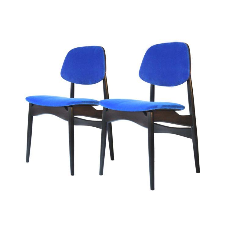 Conjunto cuatro sillas, Italia 1950 07