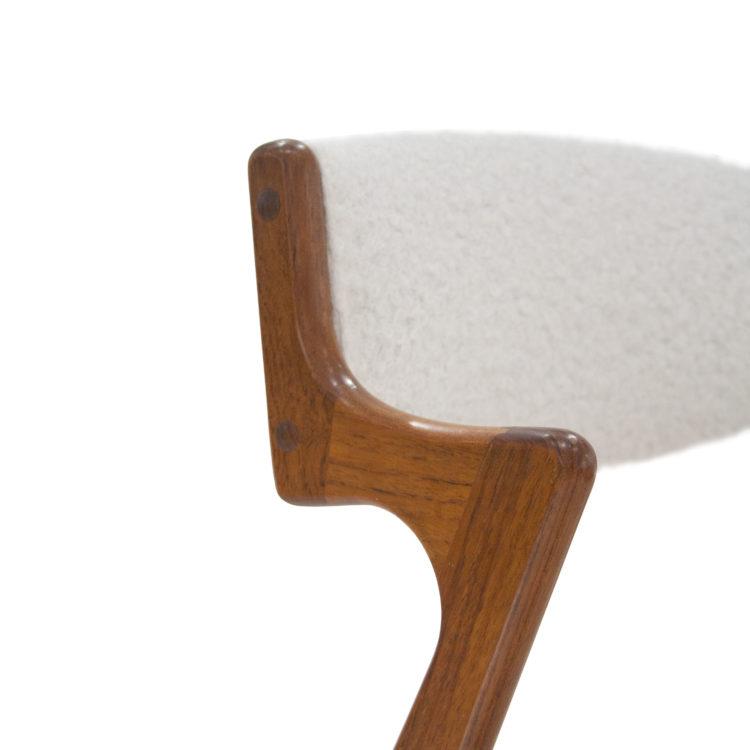 Conjunto de 4 sillas estilo Kai Kristiensen roble y boucle 1