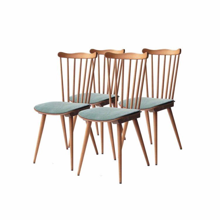 Conjunto de cuatro de sillas de teca casa Bahuman 22
