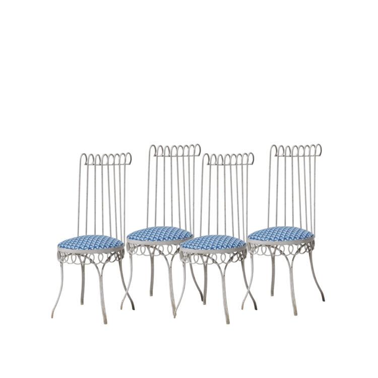 Conjunto de cuatro sillas diseño de Mathieu Mategot (1910-2001). Francia, 1950 1