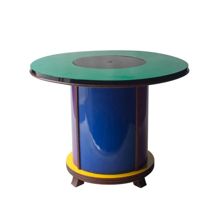 IKB21290048 Mueble bar circular diseñado por Doro Cundo para Singer&Sons. Italia, 1980-1