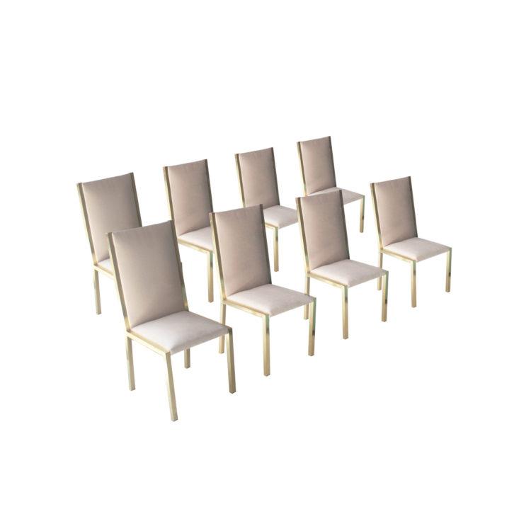 IKB22370096 Conjunto de ocho sillas. Francia, 1970 1