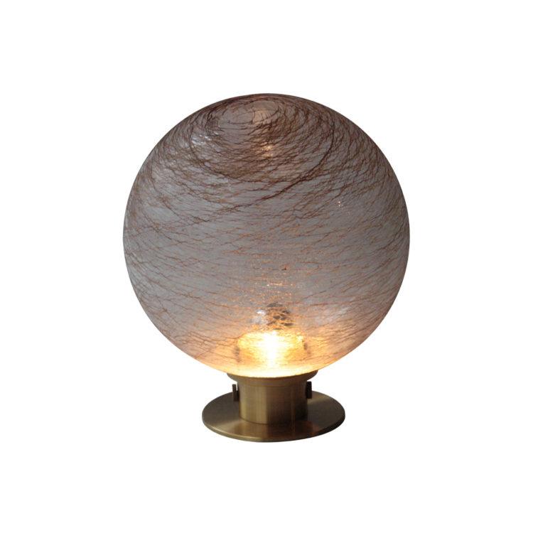 IKB19200021 Lámpara de sobremesa de cristal. Italia, 1970.-1