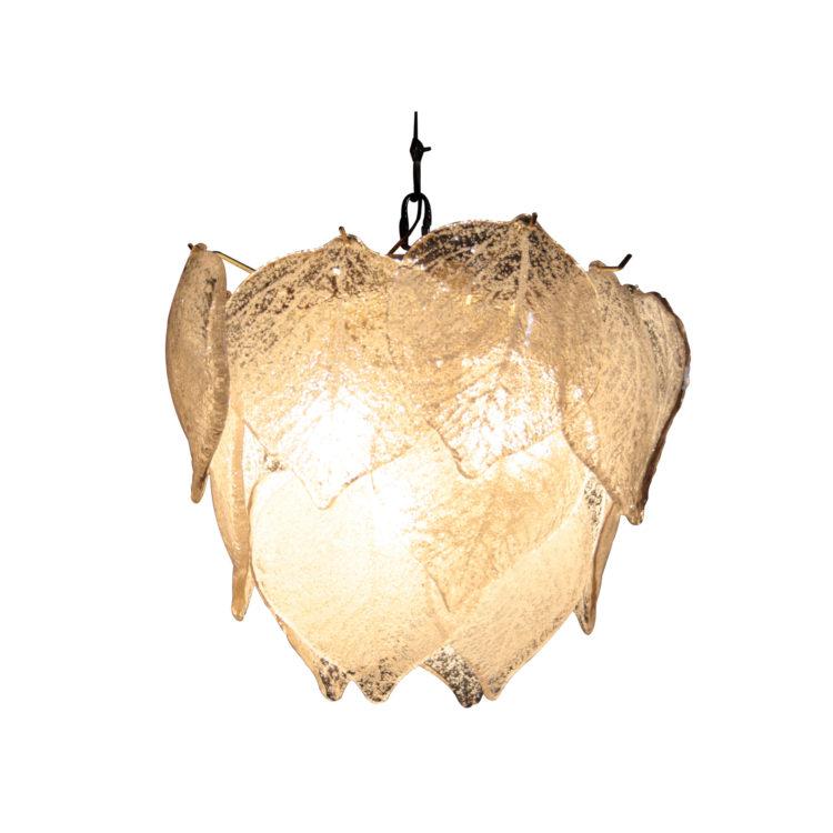 IKB19220036 Lámpara de suspensión con cristales de Murano color blanco-1