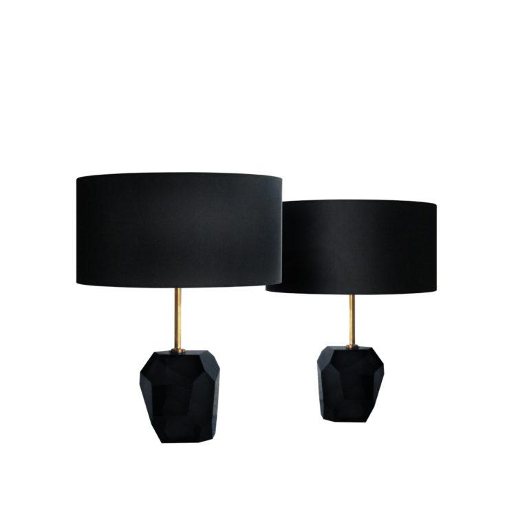 IKB19220053 Pareja de lámparas de 1 Murano moradas